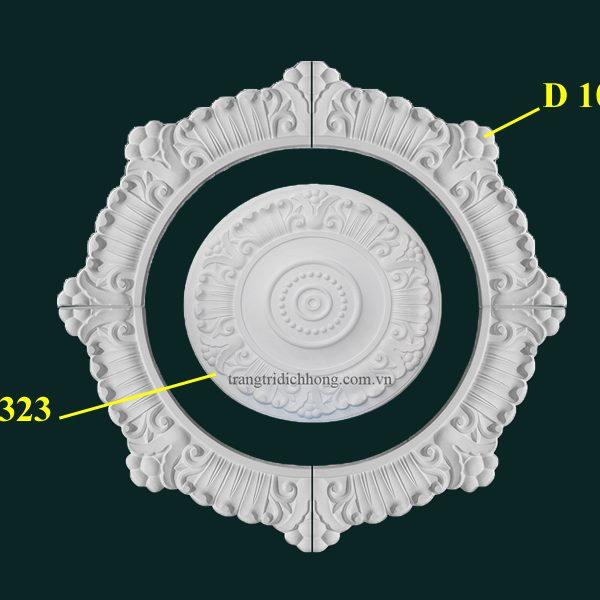 Hoa đèn thạch cao D 1010D D323