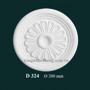 Hoa đèn thạch cao D 324