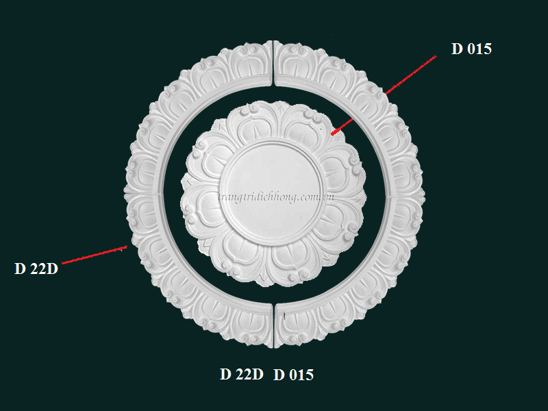 Hoa đèn thạch cao D 22D D015